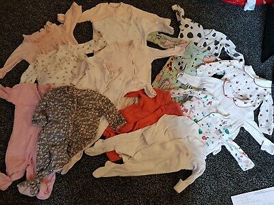 Bundle Of Baby Girl Clothes up to 1 month sleepsuits mothercare, next, m&s