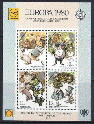QEII 1980 Europa Miniature Sheet issued by permission of P.Office not valid for-