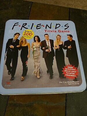 FRIENDS TV show Trivia board game TM and Warner Brothers blue tin