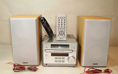 Sony Micro Hi-Fi Mini Component System CMT-RB5 With SS-CRB5 Speakers-Remote