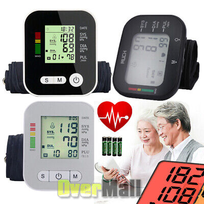 Portable Digital Upper Arm Blood Pressure Monitor Meter 198 Memory Intellisense