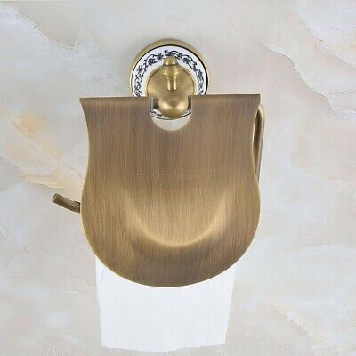Bathroom Accessory Antique Brass Wall Mount Toilet Paper Roll Holder
