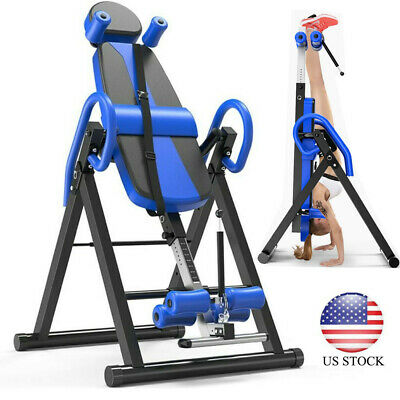 Heavy Duty Gravity Inversion Table Fitness Back Pain Relief Exercise Workout USA