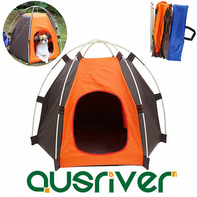 Portable Pet Tent Puppy Dog Pet Cat Camping Sun Shelter Waterproof House