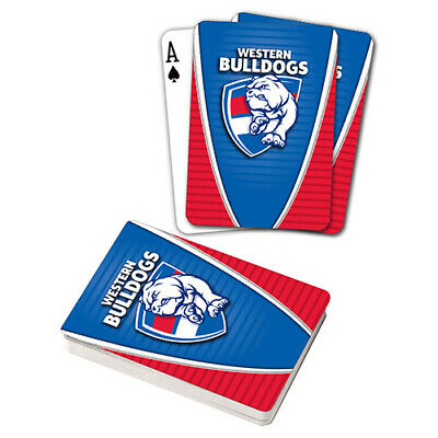 Afl Western Bulldogs Footscray Playing Cards Gift Boxed , Black Jack , Poker