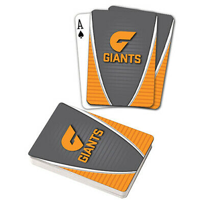 Afl Gws Giants Playing Cards Gift Boxed , Black Jack , Poker