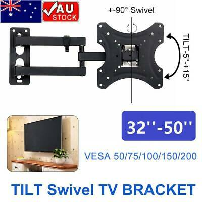 "TV WALL MOUNT BRACKET LCD LED Plasma Flat Slim Pivot/Swivel Arms Tilt 17-42"" AU"