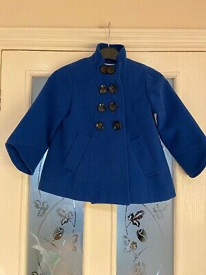Girls Clothes Age 5-6 Years Next Blue Autumn Winter Coat