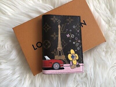 Brand New Louis Vuitton Passport Cover Wallet Christmas Animation