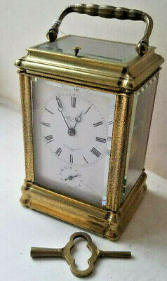 Lovely Leroy Fils Gorge Cased Striking Repeating Carriage Clock Very Rare