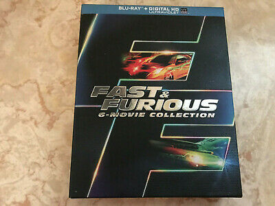 Fast  Furious: 6 Movie Collection (Blu-ray Disc, 2014)