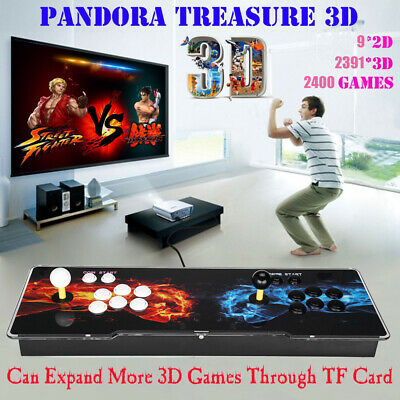 3D Pandora's Box 2400 in 1 Classic Video Games 2 Controller Retro Arcade Console
