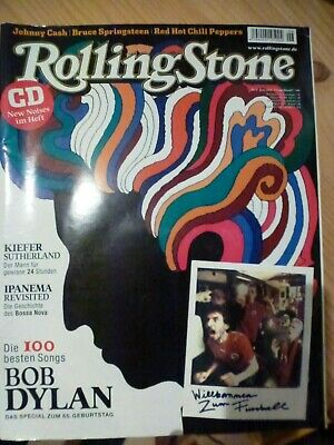 Rolling Stone - Bob Dylan; Johnny Cash; Springsteen; Red Hot Chil incl. Audio CD