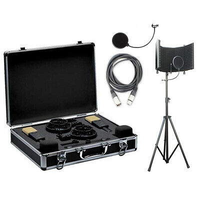 AKG C414XLII/ST MP Stereo Set Mic Set w/ Isolation Shield, Cable & Pop Filter
