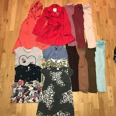 Girls Kids Clothes Bundle Age 7-8 Years Zara Disney Next H&M M&S Coats 15 Items