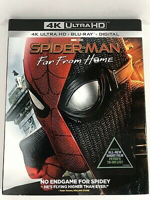 Spider Man Far From Home 2019 4K Ultra HD Blu-Ray 2 Disc Set With Slip Cover