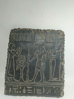 RARE ANCIENT EGYPTIAN ANTIQUE Ramses II and Horus Stela Stella 1520-1325 BC