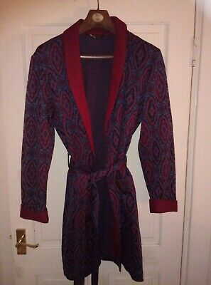 Vintage St Michael Smoking jacket dressing gown robe Small