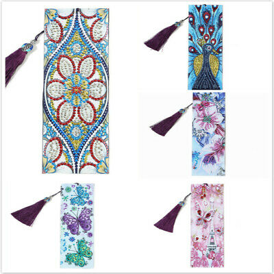 DIY Special Shaped Diamond Painting Bookmark Tassel Book Marks Embroidery Craft