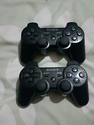 Official Sony PlayStation 3 PS3 DualShock 2 Black Controller *Faulty*
