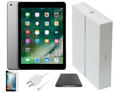 Apple iPad 9.7 2017 (5th Gen) Space Gray 32GB 9.7in, Wi-Fi, Bundle Included!