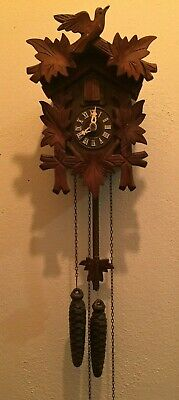 WORKNG RARE West Germany Helmut Kammerer Cuckoo Clock Black Forest SEE VIDEO R80
