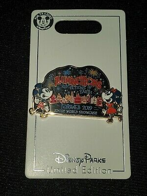 Illuminations Farewell 2019 Cast Member Exclusive Disney Pin Mickey & Minnie LE