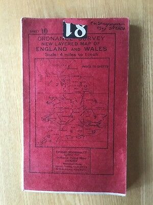 1926 Ordnance Survey Third Edition 4 Inches To Mile Map Of South West England