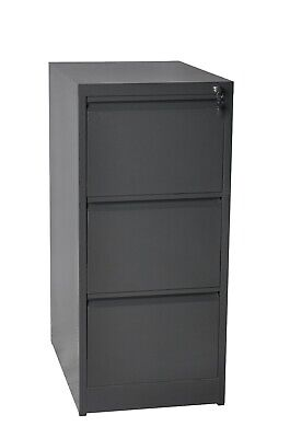3 Drawer steel filing cabinet heavy duty office furniture lockable
