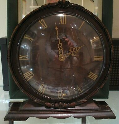 Smiths Sectric  Mantel Clock Working Crystal Glas Roman Numerals 21cm x 18.5 cm
