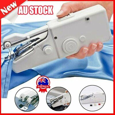 AU Mini Portable Handheld Cordless Sewing Machine Hand Held Stitch Home Clothes%