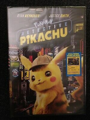 Pokemon: Detective Pikachu DVD NEW Free Shipping Ryan Reynolds Justice Smith