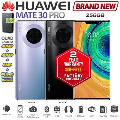 New SIM-FREE Unlocked HUAWEI Mate 30 Pro LIO-L29 Global Dual SIM 8/256GB Android