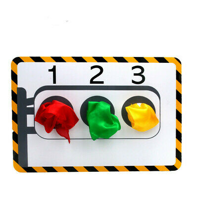 Stage Traffic Lights(With 3 Pcs Silk ) Magic Tricks Hole Silk Color Change Props