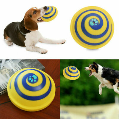 Dogs Pet Toy Sounding Disc Woof Glider Safe Soft For Dog Frisbee Indoor Play Toy