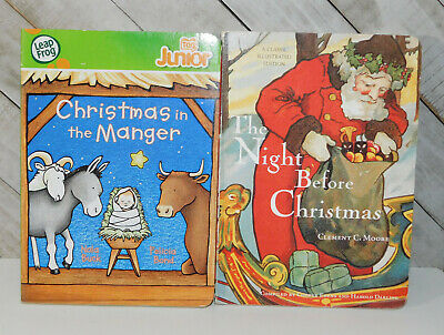 2 Children's CHRISTMAS Board Books for Toddlers
