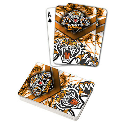Nrl Wests Tigers Playing Cards Gift Boxed , Black Jack , Poker