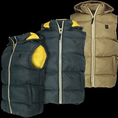 Mens Original Collections by Soulstar Designer Quilted Padded Or Chevron Sleeveless Bodywarmer Gilet