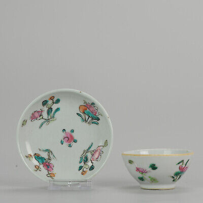Antique Chinese - 19th / Early 20th - Saucer - Flower- Porcelain - Qing ...