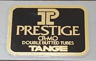 perfect for restorations Tange Prestige tubing decal