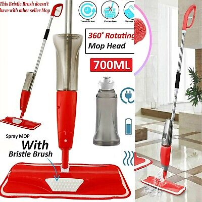 700ml Spray Mop Water Spraying Floor Cleaner Tiles Marble Kitchen Micro Fibre UK