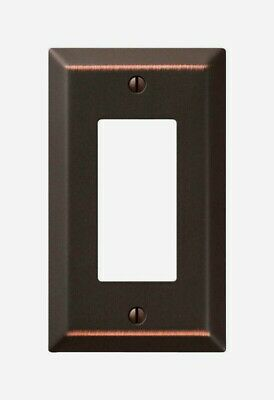 Amerelle Century AGED BRONZE Rocker WALL PLATE 1 Gang Stamped Steel 1 pk 163RDB