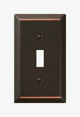 Amerelle Century Aged Bronze TOGGLE WALL PLATE 1 Gang Stamped Steel 1pk 163TDB