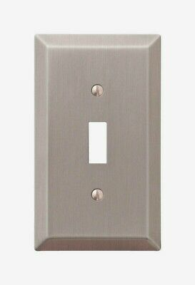 Amerelle Century Brushed Nickel TOGGLE WALL PLATE 1 Gang Stamped Steel 163TBN