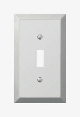 Amerelle Century Polished Chrome TOGGLE WALL PLATE 1 Gang Stamped Steel 1pk 161T