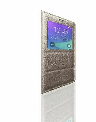 Samsung S-View Flip Cover for Samsung Galaxy Note 4 - Bronze Gold