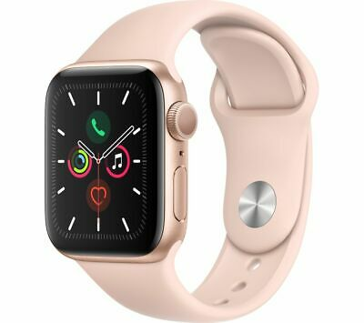APPLE Watch Series 5 - Gold Aluminium with Pink Sand Sports Band, 40 mm - Currys