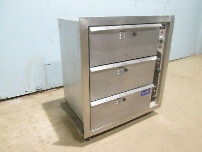 """""""Apw Hd-3B"""" Hd Commercial Electric 120V (3) Drawers """"In-Wall"""" Insert Food Warmer"""