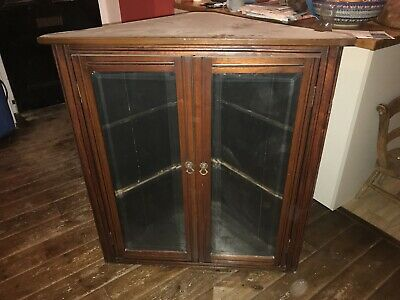 Antique Wall Hanging Corner Cabinet Cupboard