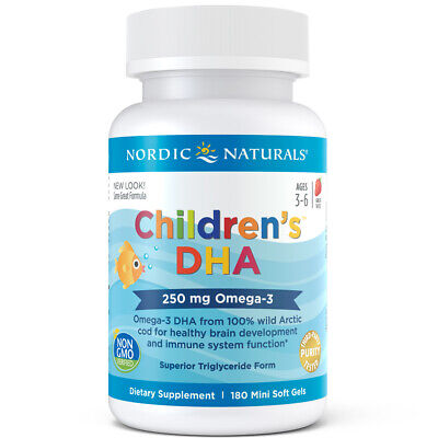 Nordic Naturals children's DHA 250 mg Omega-3 for brain and immune system 180ct